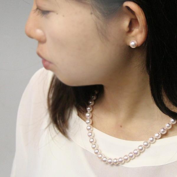 アクセサリー パール ネックレス 本真珠 フォーマル アコヤ真珠 7.5mm 名入れ|bluelace|05