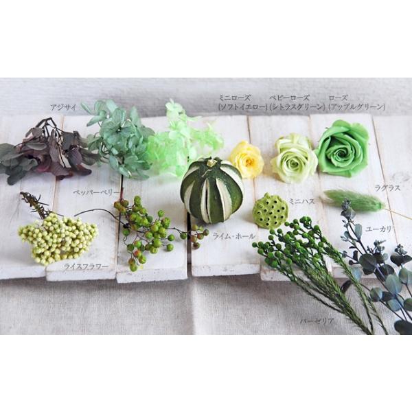 プリザーブドフラワー リース プレゼント 花 バラ グリーンリース|bluelace|03