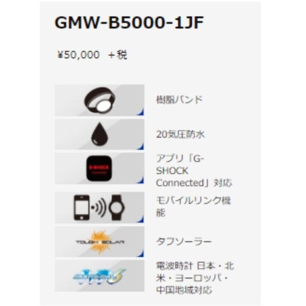 【G-SHOCK腕時計】CASIO GMW-B5000-1JF 【542】|bluepeter|02