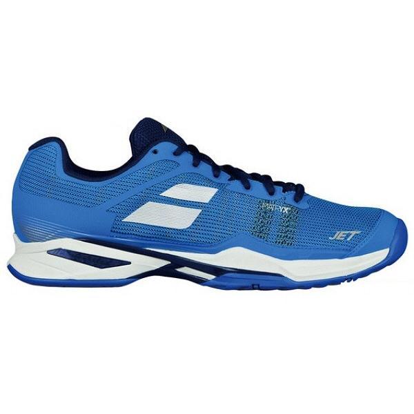 【テニスシューズ】BABOLAT(バボラ) JET MACH 1 OMNI M(ジェットマッハ1 オムニ メンズ) オムニ・クレーコート用 BAS18687-DBWE【350】|bluepeter
