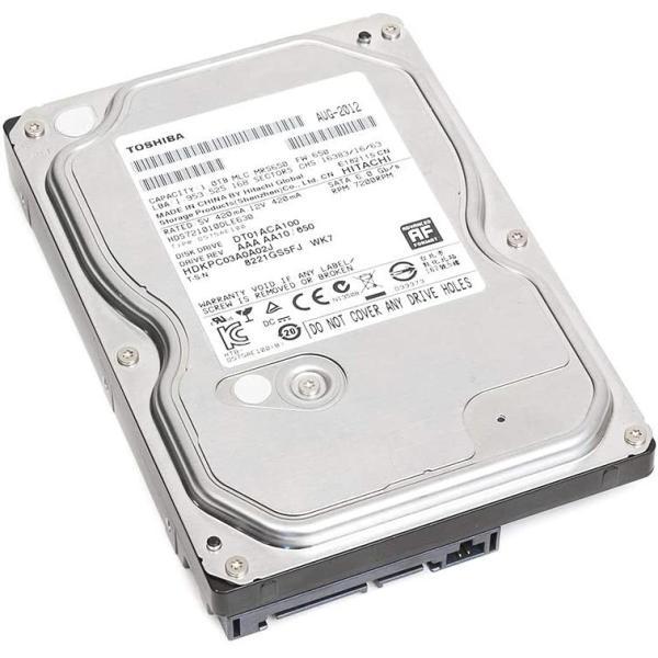 3.5インチ 東芝 DT01ACA100 1TB  SATA 6Gbps対応 3.5型内蔵ハードディスク★送料無料★【中古】
