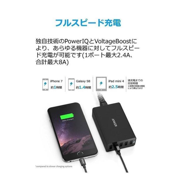 5台まとめて充電 Anker PowerPort 5 (40W 5ポート USB急速充電器) 【PSE認証済 / PowerIQ搭載】|bluesky-eshop|04