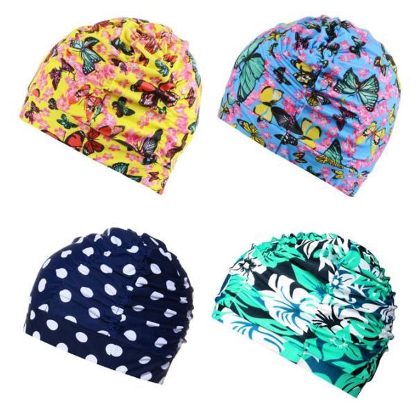 fd594c2d458 ... 水泳帽 男女兼用 スイムキャップ 花柄水着帽子 水泳 スイムウェア 水着用帽子 ...
