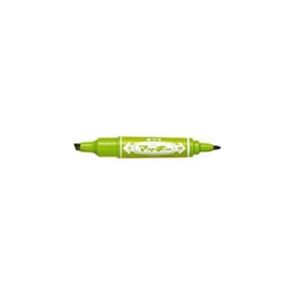 (業務用20セット) ZEBRA ゼブラ 油性ペン/ハイマッキー 〔太字・細字/ライトグリーン〕 MO-150-MC-LG