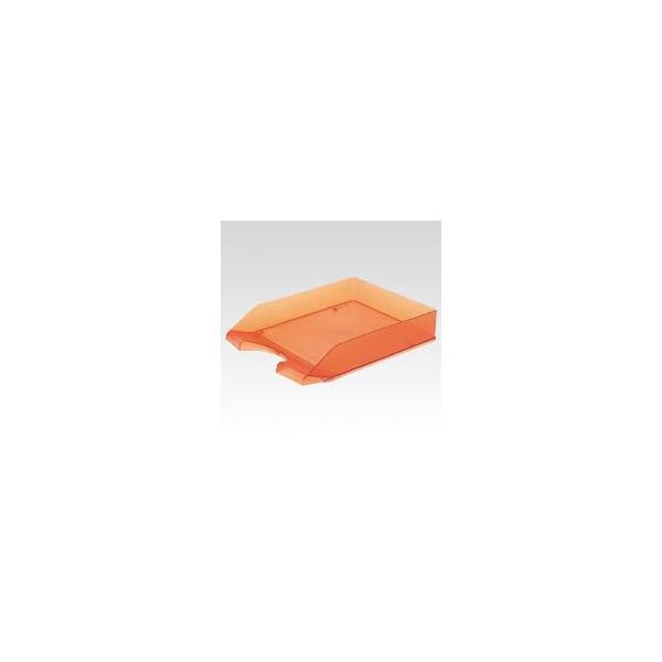 (まとめ) クルーズ レタートレー スケルトンタイプ LT-500OR オレンジ 1個入 〔×10セット〕