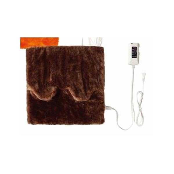 ホットマルチヒーター/暖房器具 〔ブラウン〕 無段階温度調節 ダニ退治機能・室温センサー付き 洗えるカバー 日本製〔代引不可〕