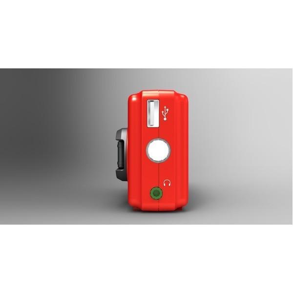 備蓄ラジオ/防災用品 〔高輝度白色LEDライト付き〕 長期保管可 AM/FM 165g