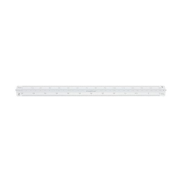 (まとめ) ステッドラー フルアルミ三角スケール副尺付き 一般用 30cm 987 30-11 1個 〔×10セット〕
