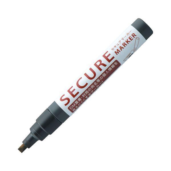 (まとめ) シヤチハタ 油性マーカーセキュアマーカー 角芯 黒 KSC-4B/H 1本 〔×50セット〕