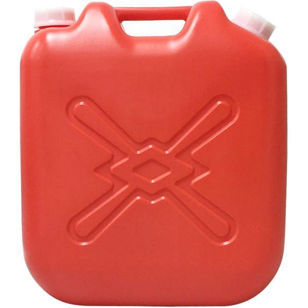 (まとめ) 灯油缶/灯油用ポリタンク 〔赤 18L〕 ベーシックサイズ キャップ口径:50mm JISマーク付き 〔6個セット 〕