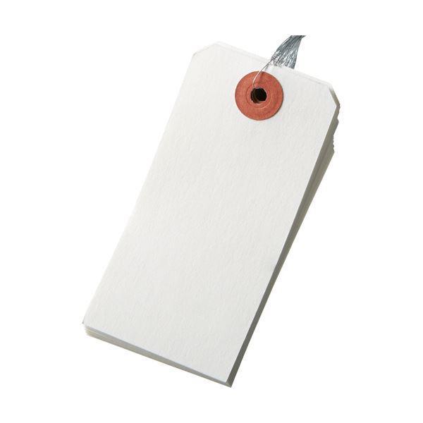 (まとめ)今村紙工 耐水紙 針金荷札 4号 45×90mm TH-4 1パック(100枚) 〔×5セット〕