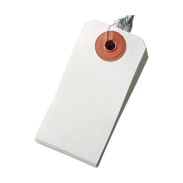 (まとめ)今村紙工 耐水紙 針金荷札 6号 30×60mm TH-6 1パック(100枚) 〔×10セット〕