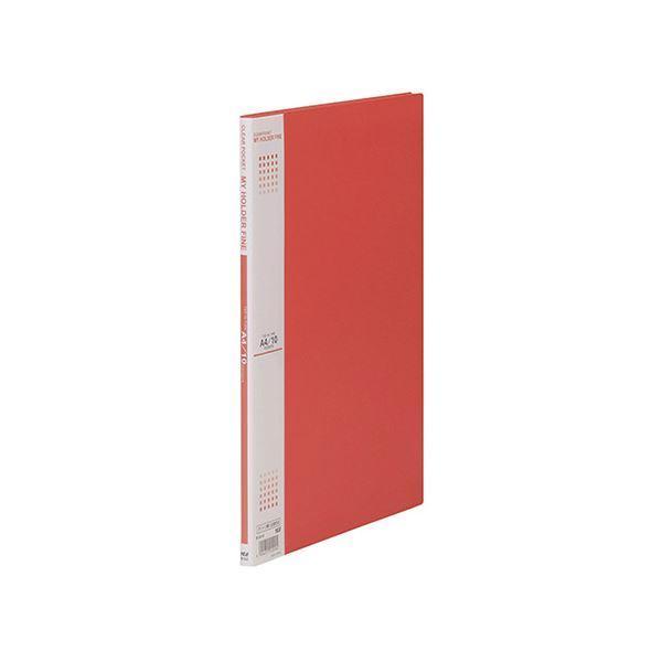 (まとめ) テージー マイホルダーファイン A4判タテ型 10ポケット 赤 〔×10セット〕