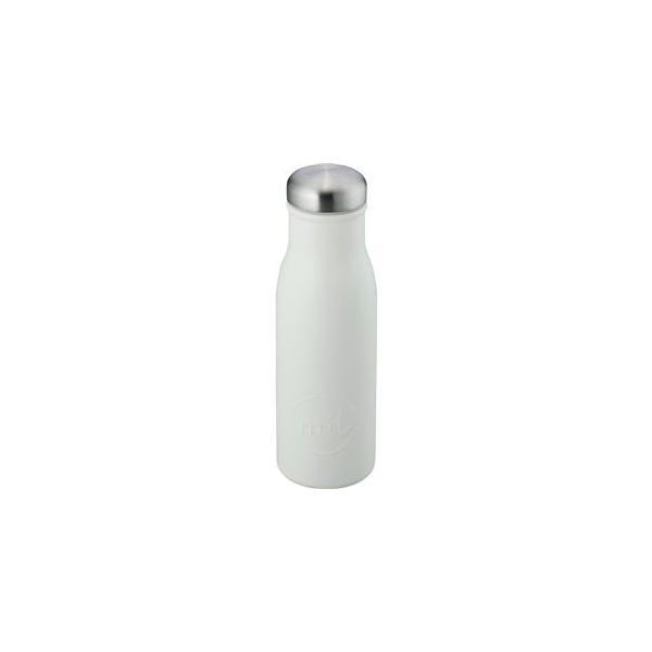 〔24個セット〕 スリム マグボトル/水筒 〔アイボリー〕 480ml スクリュー式フタ付き ステンレス 『和平フレイズ ミル』