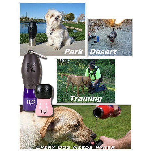 ペット 水筒 犬 猫 H2O4K9 750ml 大 おしゃれ ペット専用 お散歩 携帯 ステンレス ウォーターボトル 水飲みボウル 中型犬 大型犬 カラビナ ボトル ペット用品|bluestyle|04