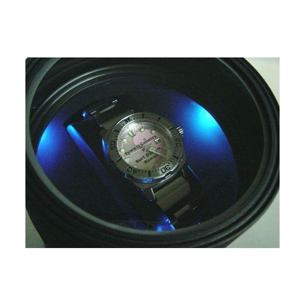ワインディングマシーン 1本 マブチモーター エスプリマ LED 自動巻き時計 腕時計 ウォッチ 自動巻き メンズ レディース 時計 ワインダー ワインディングマシン|bluestyle|02