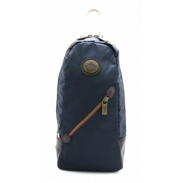 1871121b283b (バッグ)Orobianco オロビアンコ ボディバッグ ショルダーバッグ ナイロン レザー 紺 ネイビー 茶 ブラウン (