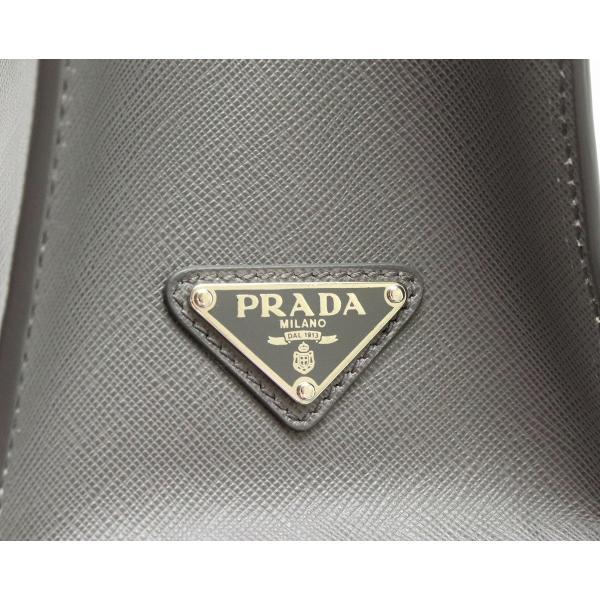 (バッグ)PRADA プラダ サフィアーノ ハンドバッグ 2WAY ショルダー トートバッグ SAFFIANO レザー グレー MERCURIO 国内ブティック購入品 メンズ VA1016 (k)