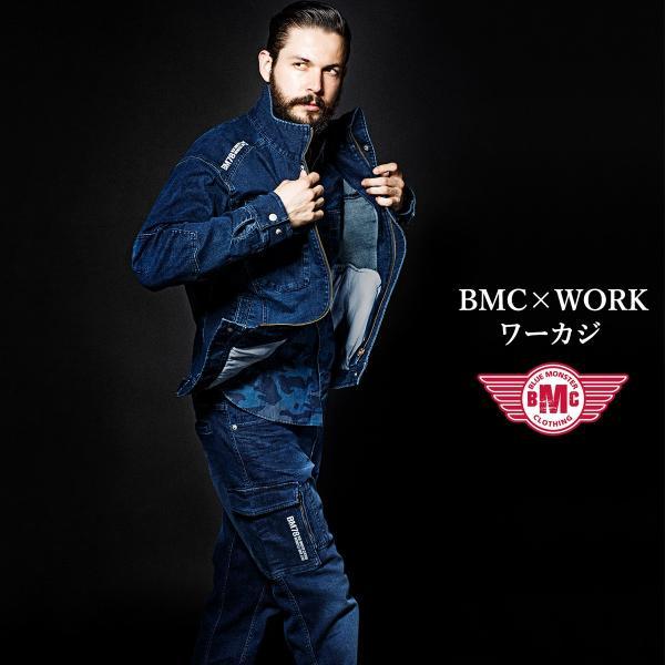 完売 カーゴパンツ メンズ ワークパンツ アーバンカーゴ ストレッチデニム ワンウォッシュ ダークブルー ライトブルー S-XL BMC|bmc-tokyo|08