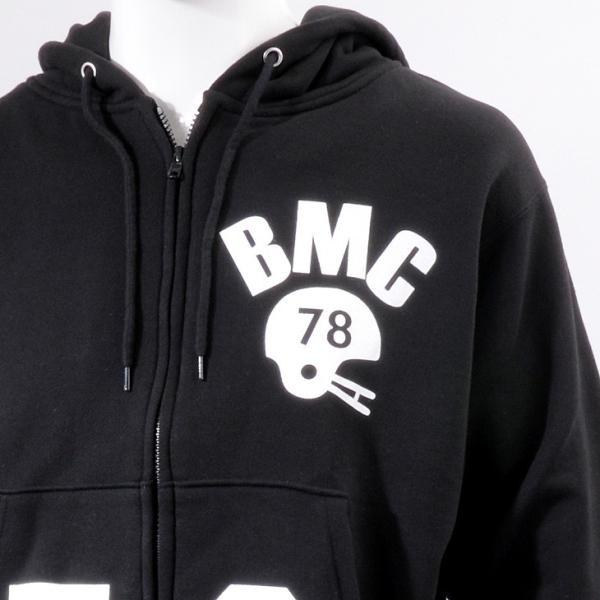 セール ジップパーカー メンズ 柔らかな裏毛コットン素材 オリジナルプリント グレー/ブラック黒 S-XL BMC bmc-tokyo 10