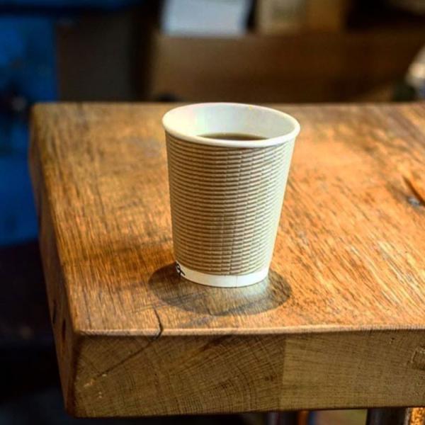 紙コップ 蓋付き 断熱エコクラフト2重8オンス 紙カップ &ホット用黒蓋 100個セット EC03|bmt-store|08