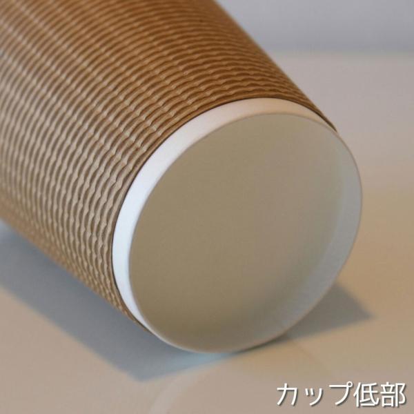紙コップ 蓋付き 断熱エコクラフト2重12オンス 紙カップ &ホット用白蓋  100個セット EC02|bmt-store|05