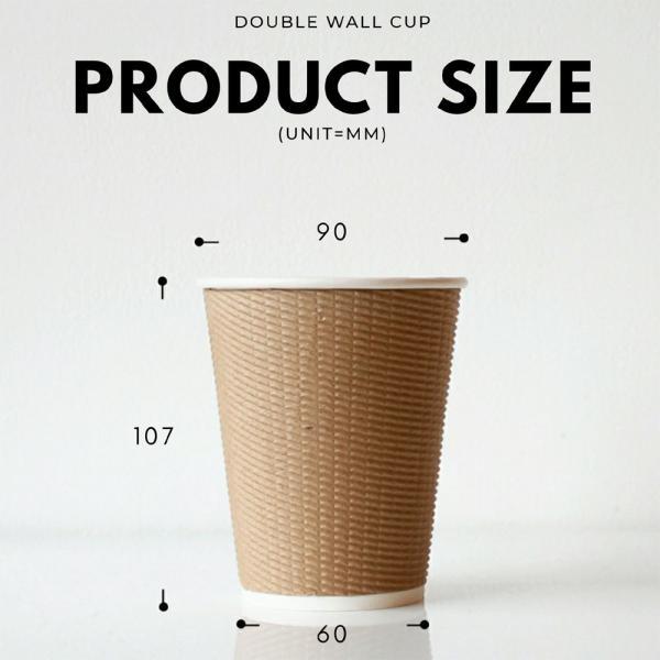 紙コップ 蓋付き 断熱エコクラフト2重12オンス 紙カップ &ホット用白蓋  100個セット EC02|bmt-store|07