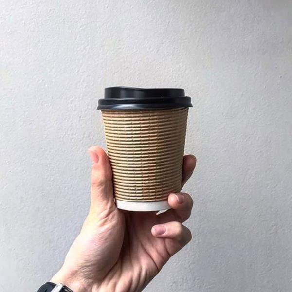 紙コップ 断熱エコクラフト二重8オンス 紙カップ|bmt-store|05