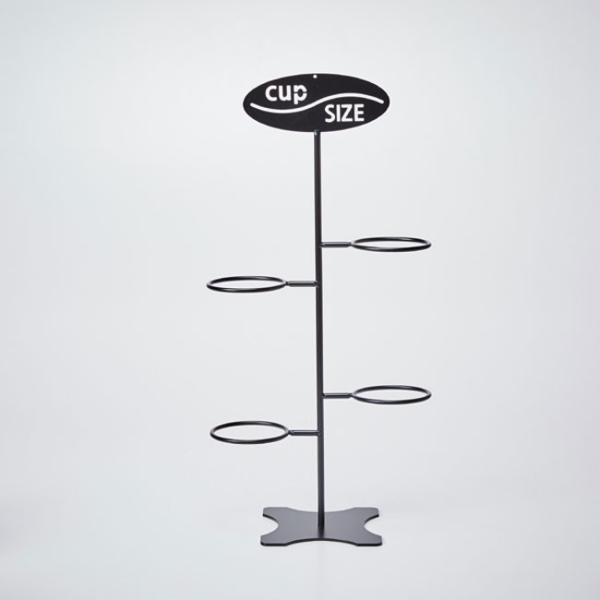 紙コップ テイクアウト おしゃれ クリアカップ カフェグッズ カップサイズ ディスペンサー ワイヤー 4口用 Cuffy-I773|bmt-store|02