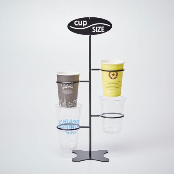 紙コップ テイクアウト おしゃれ クリアカップ カフェグッズ カップサイズ ディスペンサー ワイヤー 4口用 Cuffy-I773|bmt-store|03