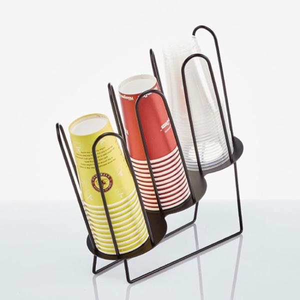 紙コップ クリアカップ ディスペンサー カップ&フタ用ワイヤー 3口用 C90|bmt-store|04
