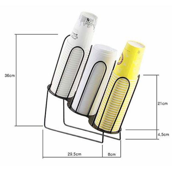 紙コップ クリアカップ ディスペンサー カップ&フタ用ワイヤー 3口用 C90|bmt-store|05