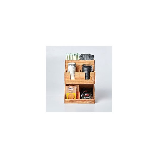 紙コップ テイクアウト おしゃれ クリアカップ カフェグッズ ディスペンサー ウッディーダブルディスペンサー Cuffy-W1141|bmt-store|03