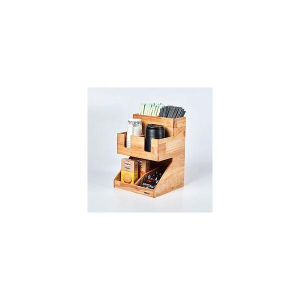 紙コップ テイクアウト おしゃれ クリアカップ カフェグッズ ディスペンサー ウッディーダブルディスペンサー Cuffy-W1141|bmt-store|04