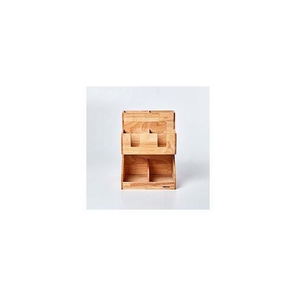 紙コップ テイクアウト おしゃれ クリアカップ カフェグッズ ディスペンサー ウッディーダブルディスペンサー Cuffy-W1141|bmt-store|05