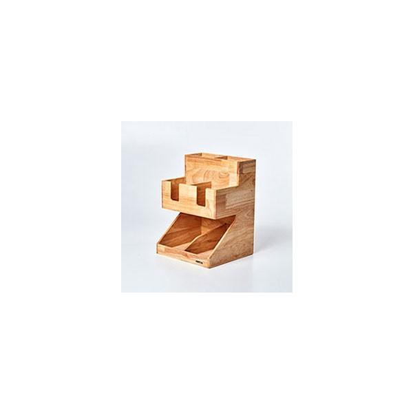 紙コップ テイクアウト おしゃれ クリアカップ カフェグッズ ディスペンサー ウッディーダブルディスペンサー Cuffy-W1141|bmt-store|06