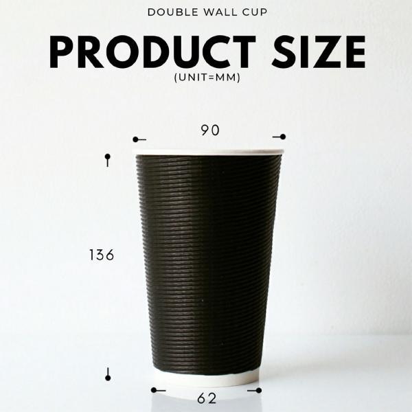 テイクアウト 紙コップ 断熱エコブラック16オンス 紙カップ 500個|bmt-store|08