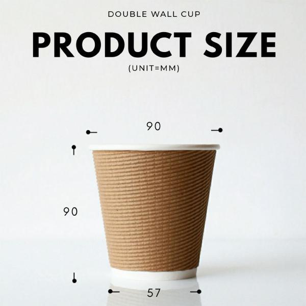紙コップ 断熱エコクラフト二重10オンス 紙カップ|bmt-store|06