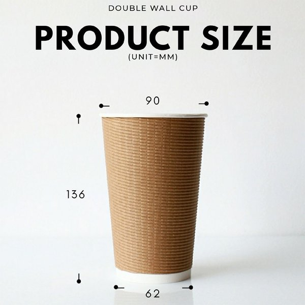 テイクアウト 紙コップ 断熱エコクラフト二重16オンス 紙カップ 500個|bmt-store|06