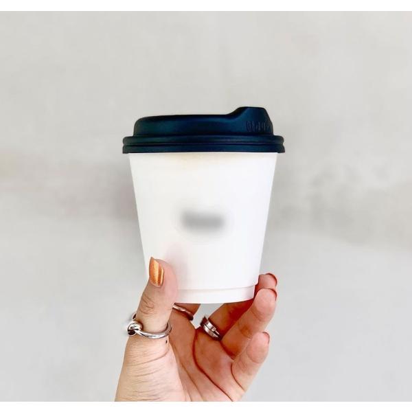 テイクアウト 紙コップ 紙カップ ノーストロー蓋 90mm口径用 ブラック|bmt-store|12