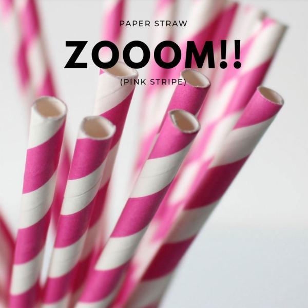紙ストロー ペーパーストロー ピンクストライプ 10000本|bmt-store|05