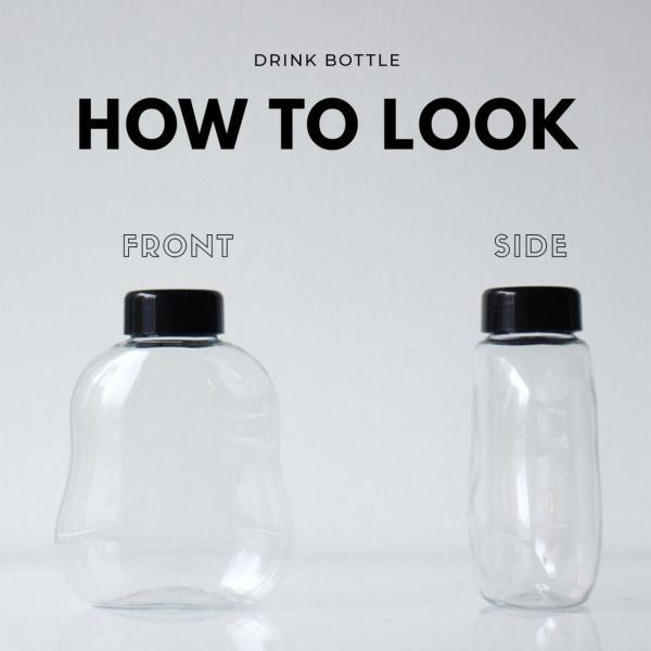 テイクアウト ドリンクボトル ボトル容器 400ml gourd 黒蓋 ボトルドリンク 100個セット|bmt-store|02