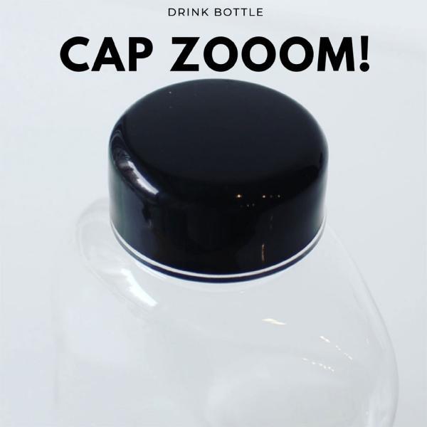 テイクアウト ドリンクボトル ボトル容器 400ml gourd 黒蓋 ボトルドリンク 100個セット|bmt-store|03