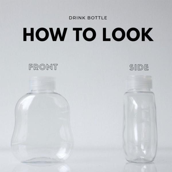 テイクアウト ドリンクボトル ボトル容器 400ml gourd 持ち手付 半透明蓋 ボトルドリンク 100個セット|bmt-store|02