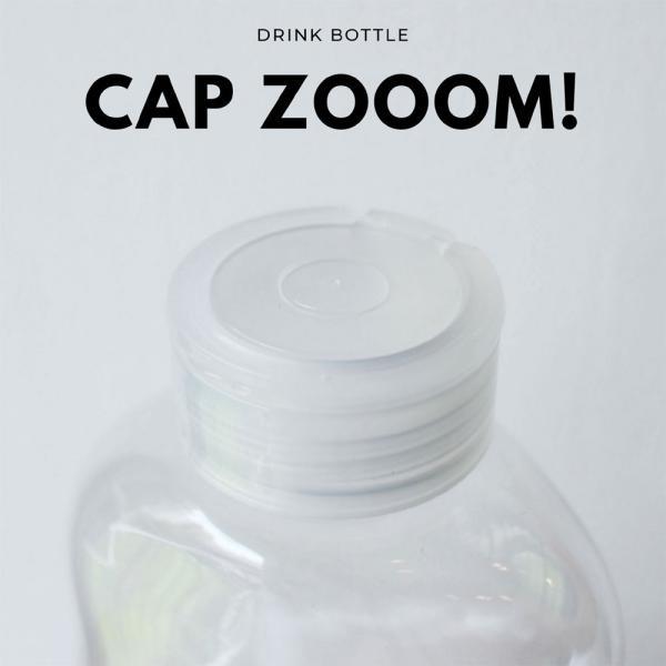 テイクアウト ドリンクボトル ボトル容器 400ml gourd 持ち手付 半透明蓋 ボトルドリンク 100個セット|bmt-store|05