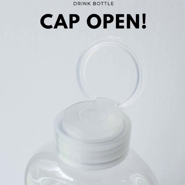 テイクアウト ドリンクボトル ボトル容器 400ml gourd 持ち手付 半透明蓋 ボトルドリンク 100個セット|bmt-store|06