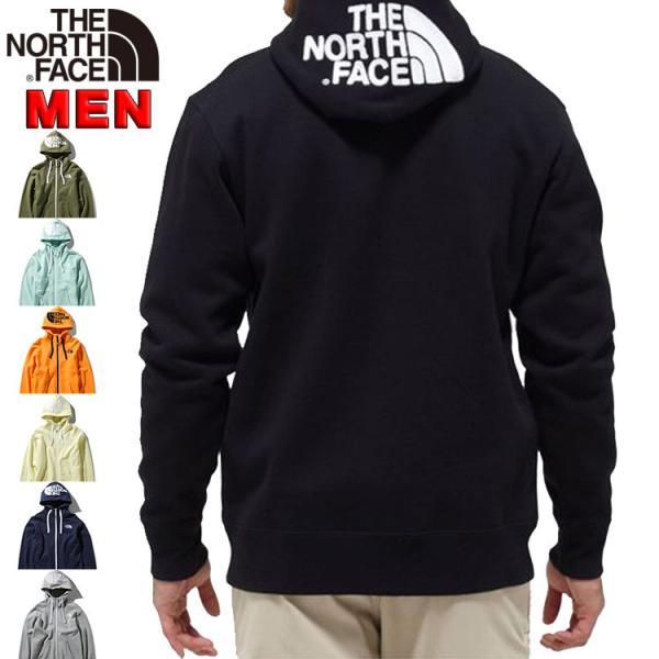 ノースフェイスメンズパーカXS-Lリアビューフルジップフーディアウター防寒ジャケット長袖無地おしゃれアウトドアRearviewF