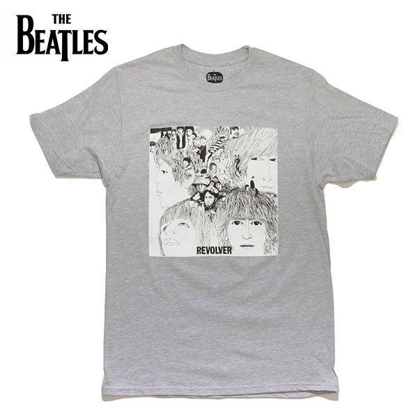 ザ・ビートルズ 【The Beatles】THE BEATLES REVOLVER TEE GREY  半袖 Tシャツ リボルバー メンズ レディース ロックT バンドT 【ネコポスのみ送料無料】
