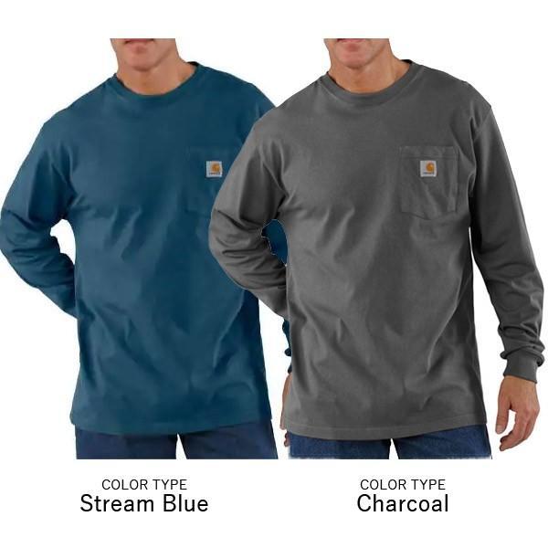 カーハート【carhartt】K126 メンズ トップス ロンT Long Sleeve Workwear Pocket T-Shirt  カットソー Tシャツ USサイズ 【1点のみメール便可】|bobsstore|02