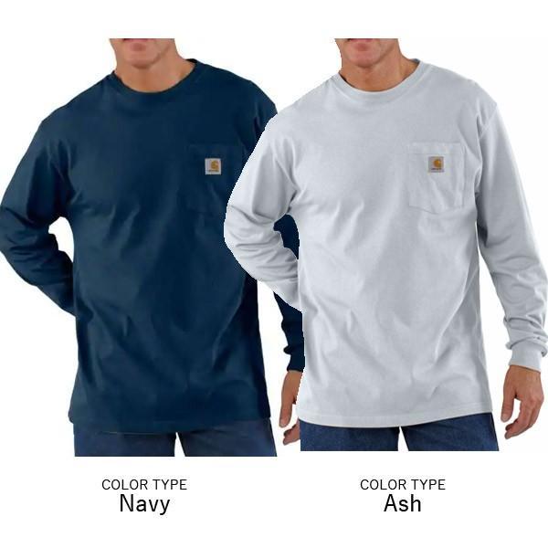 カーハート【carhartt】K126 メンズ トップス ロンT Long Sleeve Workwear Pocket T-Shirt  カットソー Tシャツ USサイズ 【1点のみメール便可】|bobsstore|03